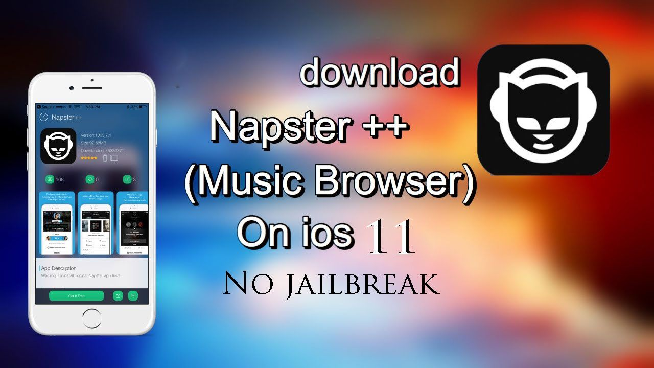 Download Napster++ for the iOS device without any root or
