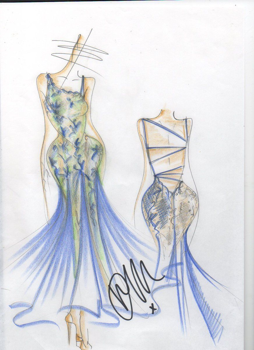 Denton Drapes On Dress Sketches Beautiful Costumes Sketches