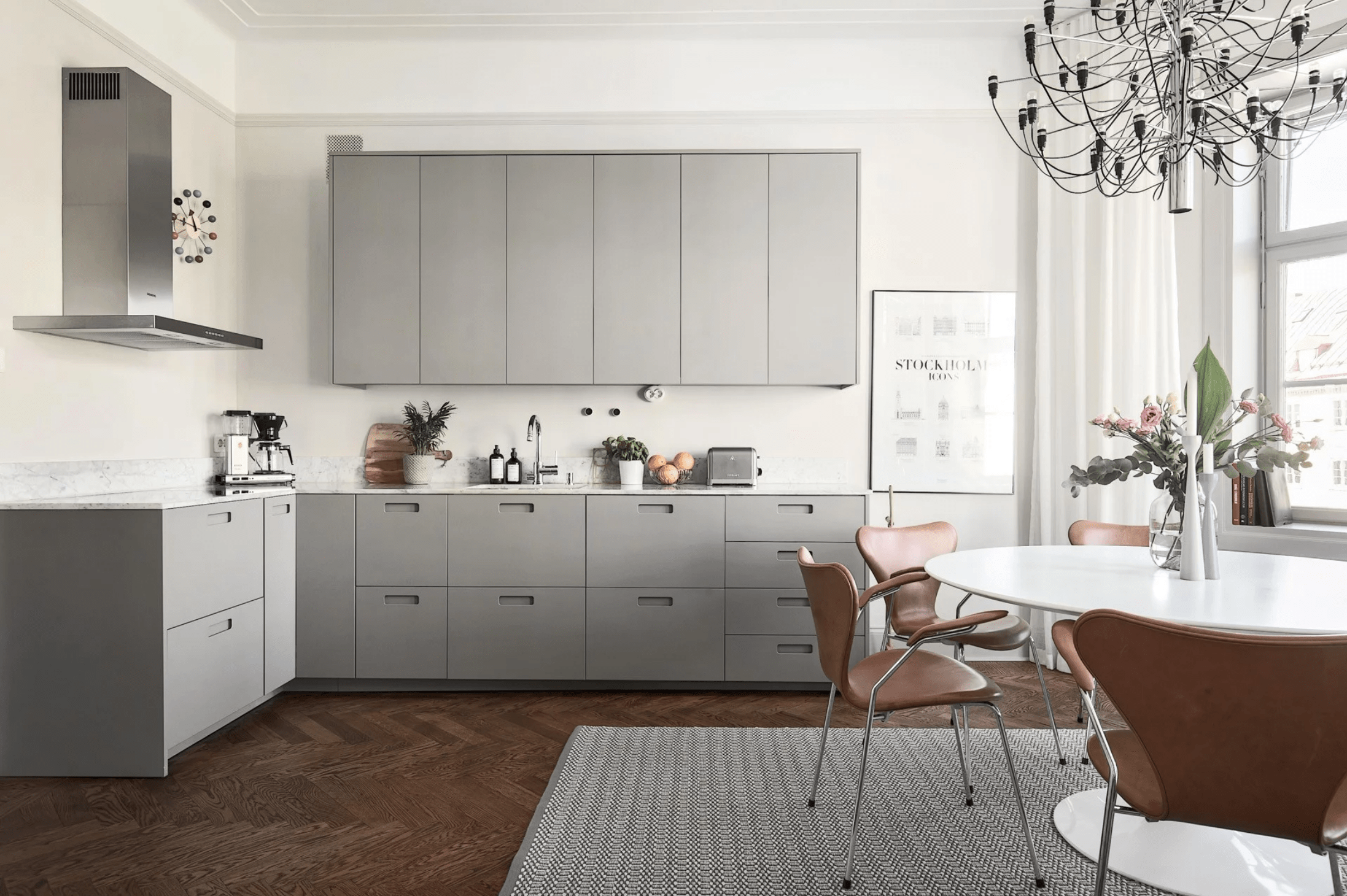 Minimal Kitchen With Large Dining Area  Coco Lapine Designcoco