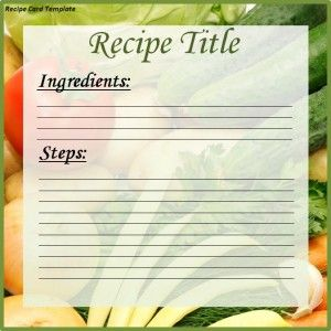 Recipe Card Template Word Templates Examples And Formats Recipe Cards Template Recipe Cards Printable Recipe Cards
