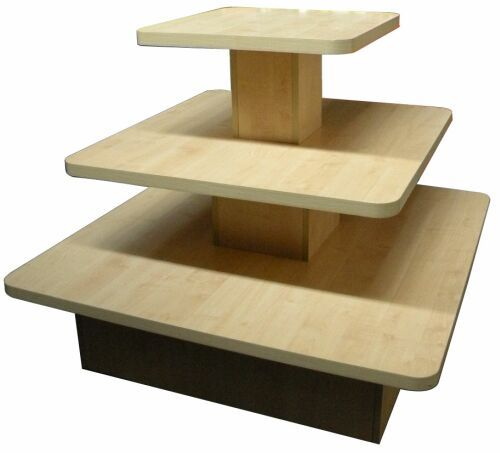 Store Display Table Display Isle Unit With Tiers Display Furniture Wood Display Display Shelves