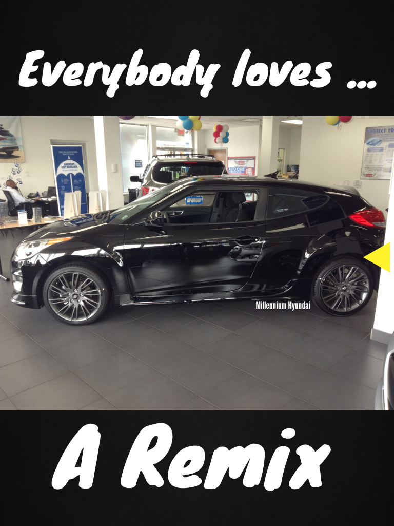 Everybody Loves A Remix Especially The Hyundai Veloster Re Mix Truly An Awesome Vehicle Hyundai Models Hyundai Veloster Hyundai Cars