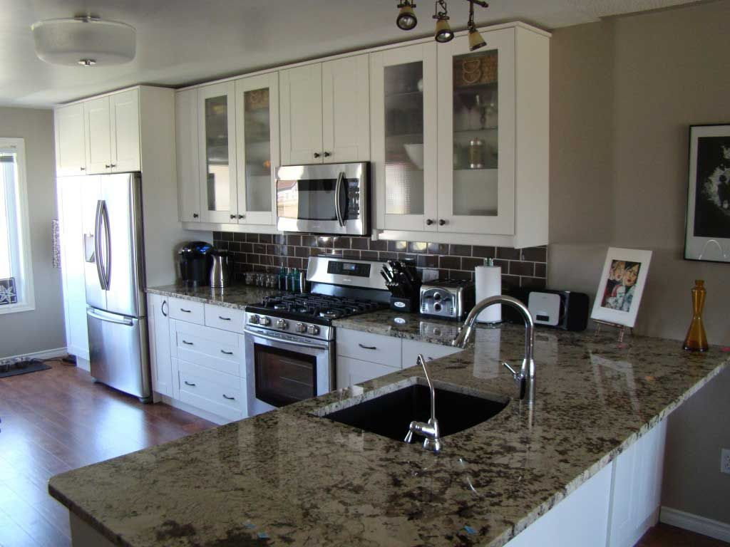 Ikea Adel Off White Kitchen With Granite Countertop I D Prefer