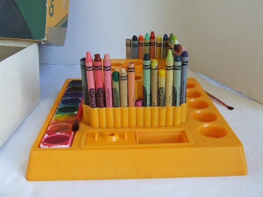 Vintage Crayola Crayon Caddy Art Supply Holder Binney