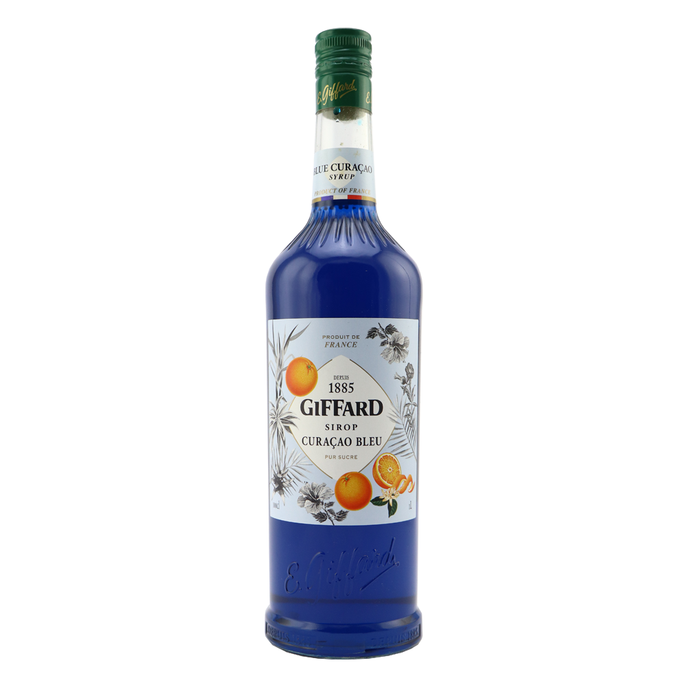 GIFFARD Blue Curacao Syrup Pure sugar syrup made from natural aromas of bitter oranges.Thick. colourful and perfumed. Ver… | Blue curacao ...