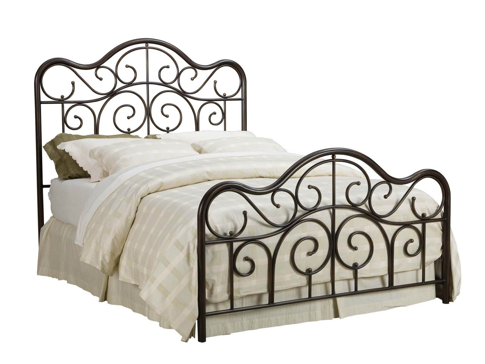 Rot Eisen Bett Metall Bett Frame Queen Single Metall Bett Rahmen