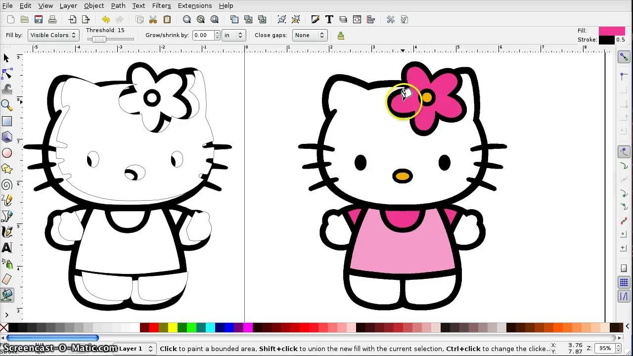 How to Create an SVG from a Color Image in Inkscape