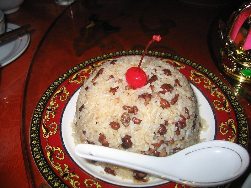 Ginseng fruit rice (人参果饭) is considered as a lucky food by