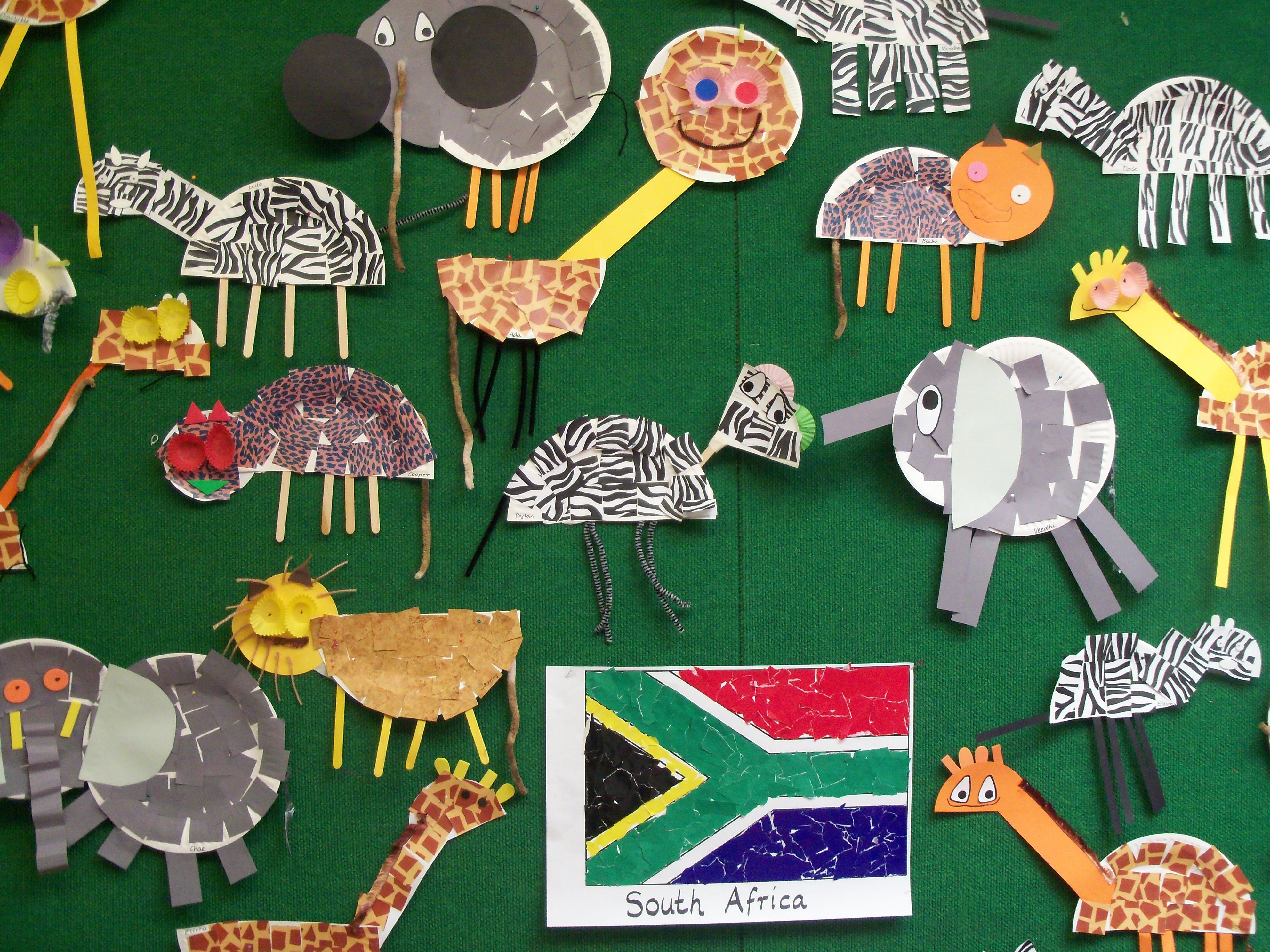 South Africa Animals Kids Crafts South
