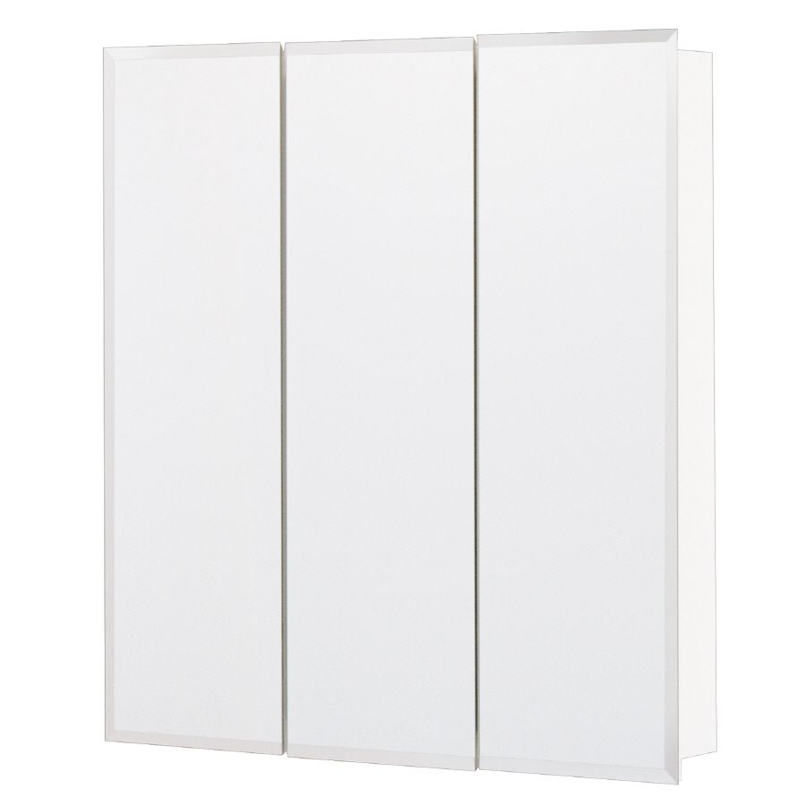 Style Selections 24.25-in x 25-in Surface Medicine Cabinet | New ...