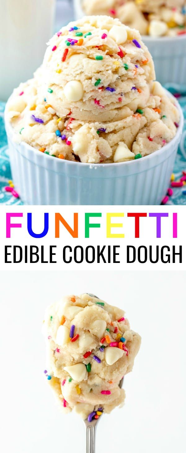 Funfetti Edible Cookie Dough - A Fast and Fun Treat!