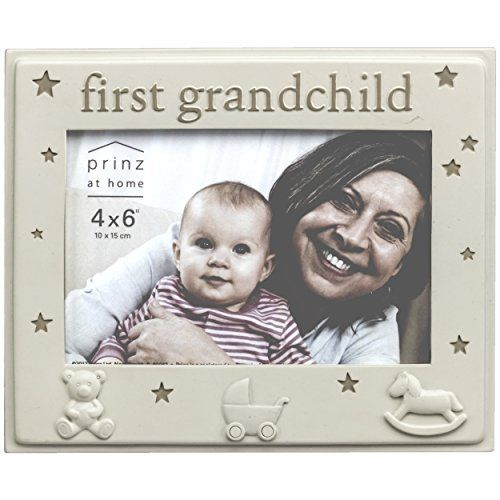Prinz First Grandchild Cream Resin Baby Frame ** You can get ...