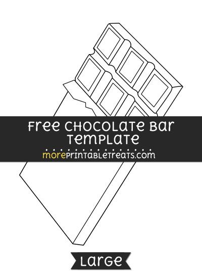 Free Chocolate Bar Template - Large | Shapes and Templates ...