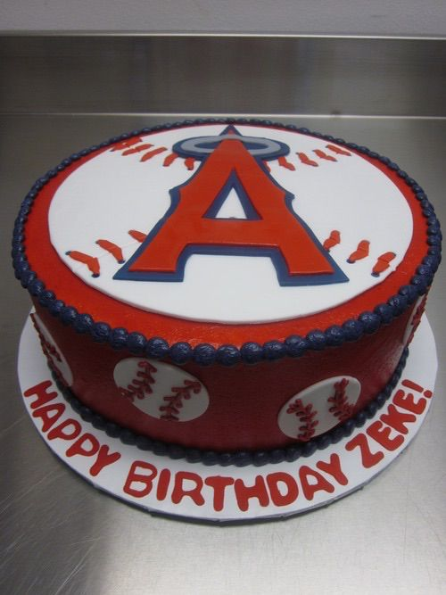 Los Angeles Angels Of Anaheim With Images Baseball Birthday