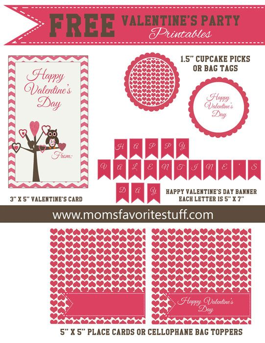 Free Valentine S Day Party Printables Party Printables And Banners