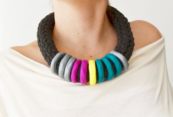 Emerald Green Necklace Trendy Jewelry Modern Jewelry by IKKX, €38.00 LOVE LOVE THIS!!!