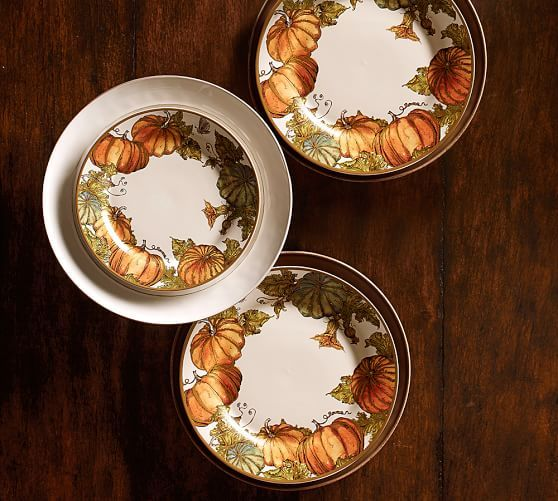 Heritage Pumpkin Dinnerware | Pottery Barn & Heritage Pumpkin Dinnerware | Pottery Barn | Autumn My Favorite ...