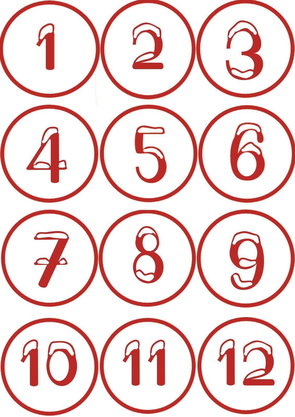 Numeri con neve per calendario dell'avvento (con immagini ...