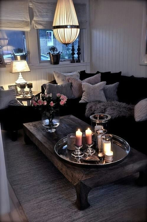 Love The Coffee Table Never Know What Goes With Dark Furniture