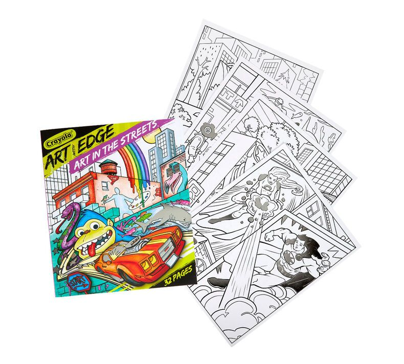 Art With Edge Coloring Book Art In The Streets Crayola Com Crayola Coloring Books Crayola Art Coloring Book Art