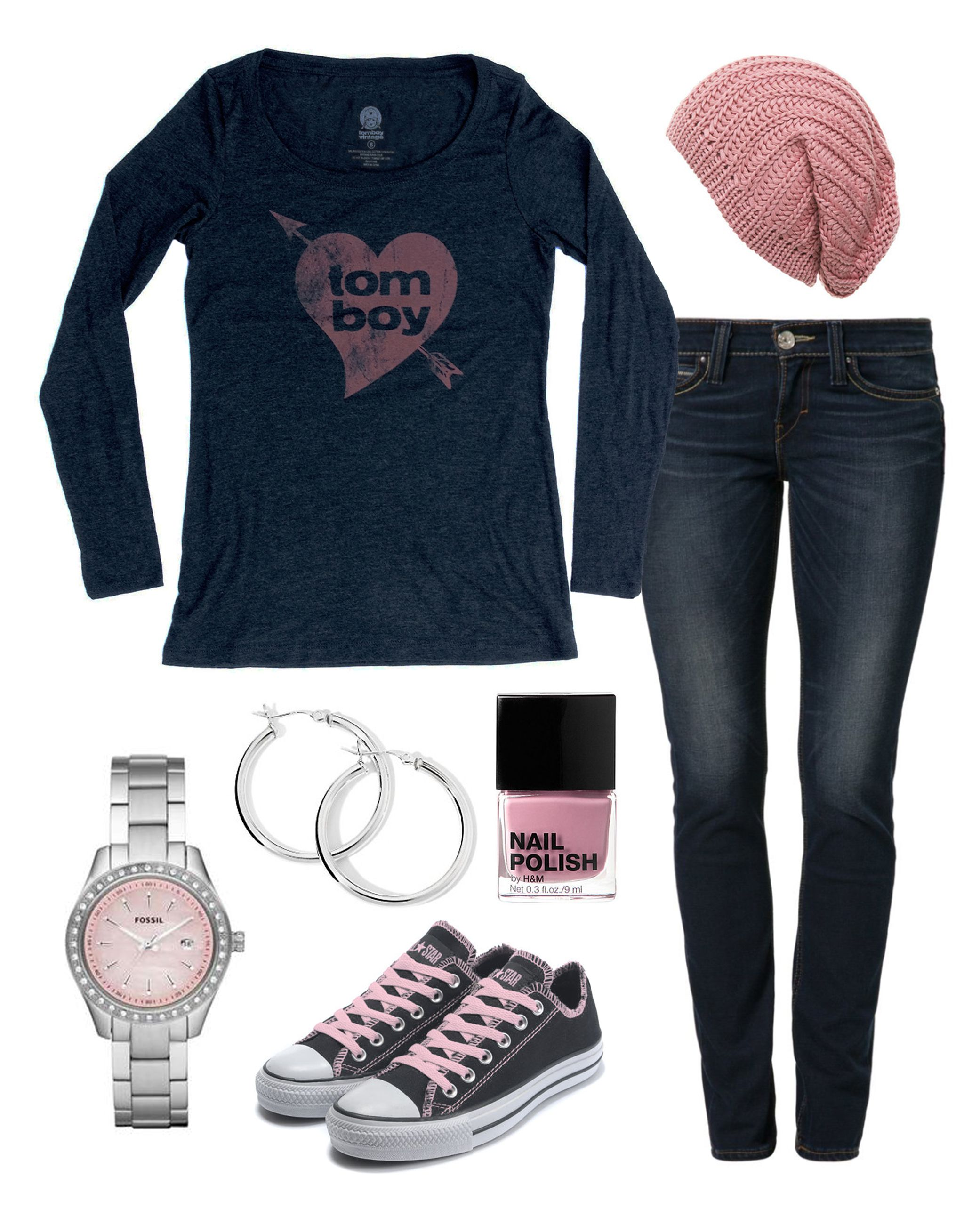 tomboy at heart tee tomboy chic black converse outfits