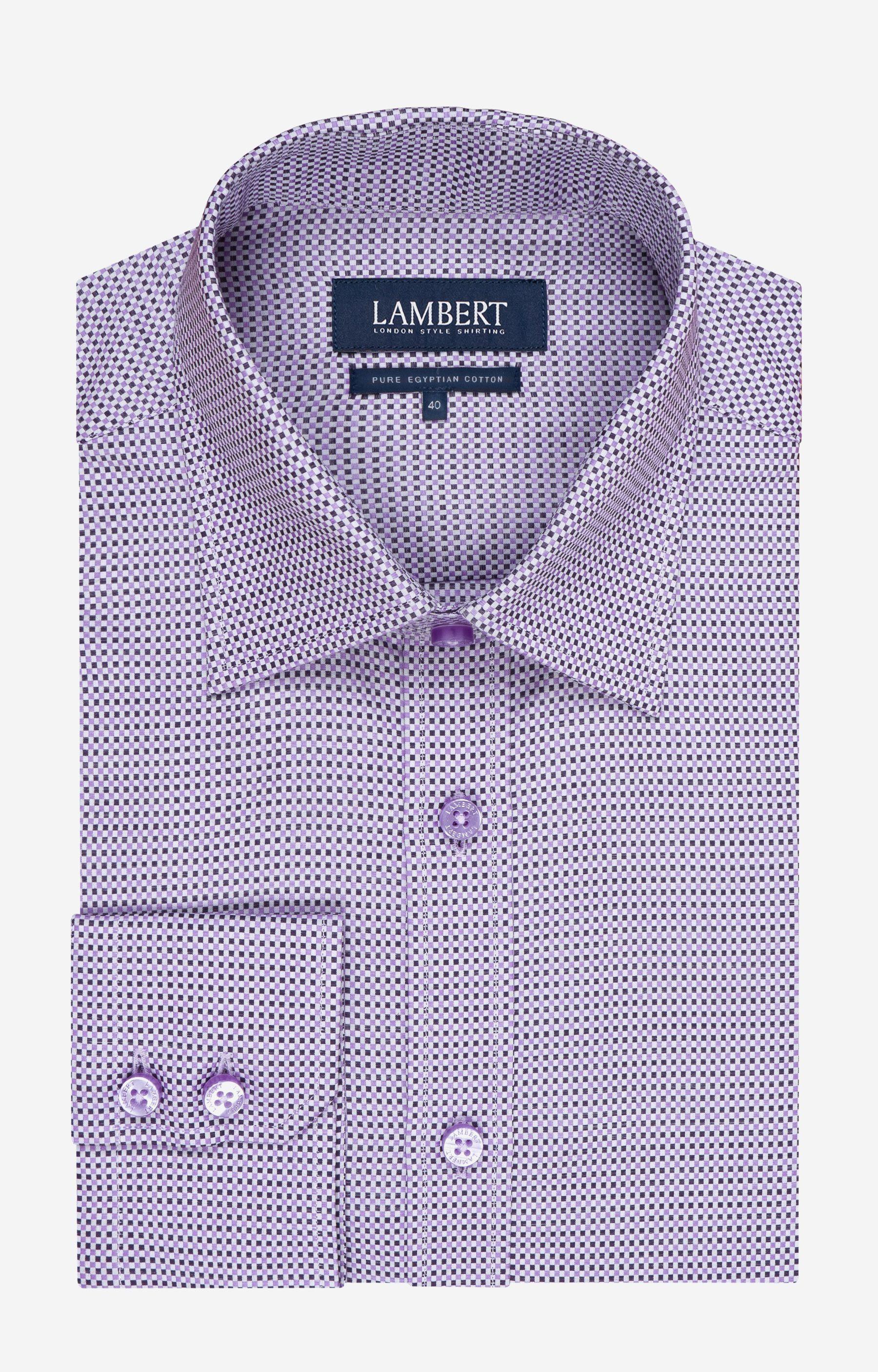 c0509bc7736ea1 Fioletowa koszula męska LAMBERT L394LB7676 | 오빠옷