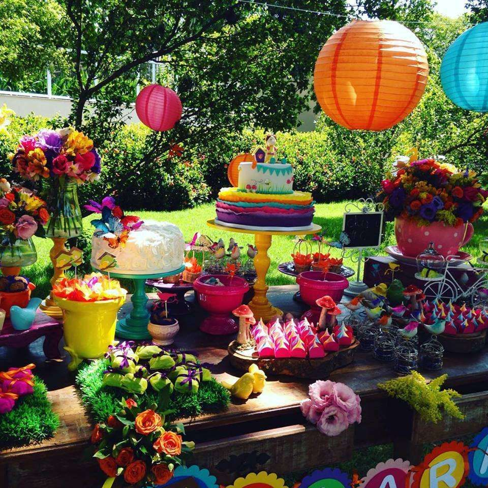 Rainbow garden summer party! See more party planning ideas ...
