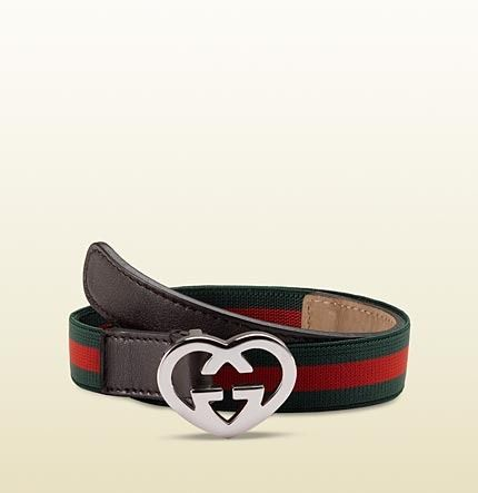 Gucci kid's belt with GG heart buckle on shopstyle.com
