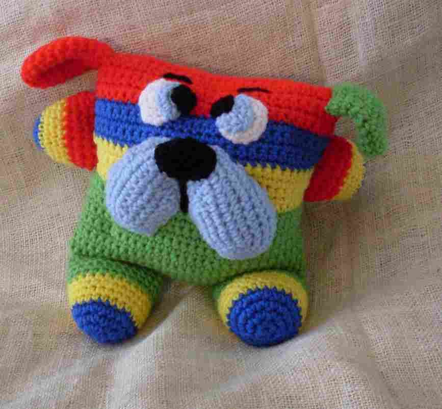 Detailed description on how to crochet this adorable dog toy. | Mi ...