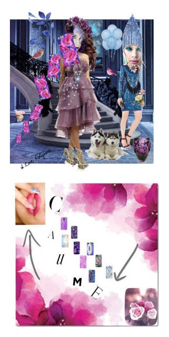 """Call Me"" by anastasia-pellerin ❤ liked on Polyvore featuring Ariella, BCBGMAXAZRIA, Kori, Samsung, Balmain, Sterling, Barclay Butera, zazzle, Pink and art"