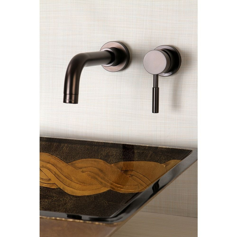 Wall Mount Oil Rubbed Bronze Single Handle Bathroom Faucet Oil