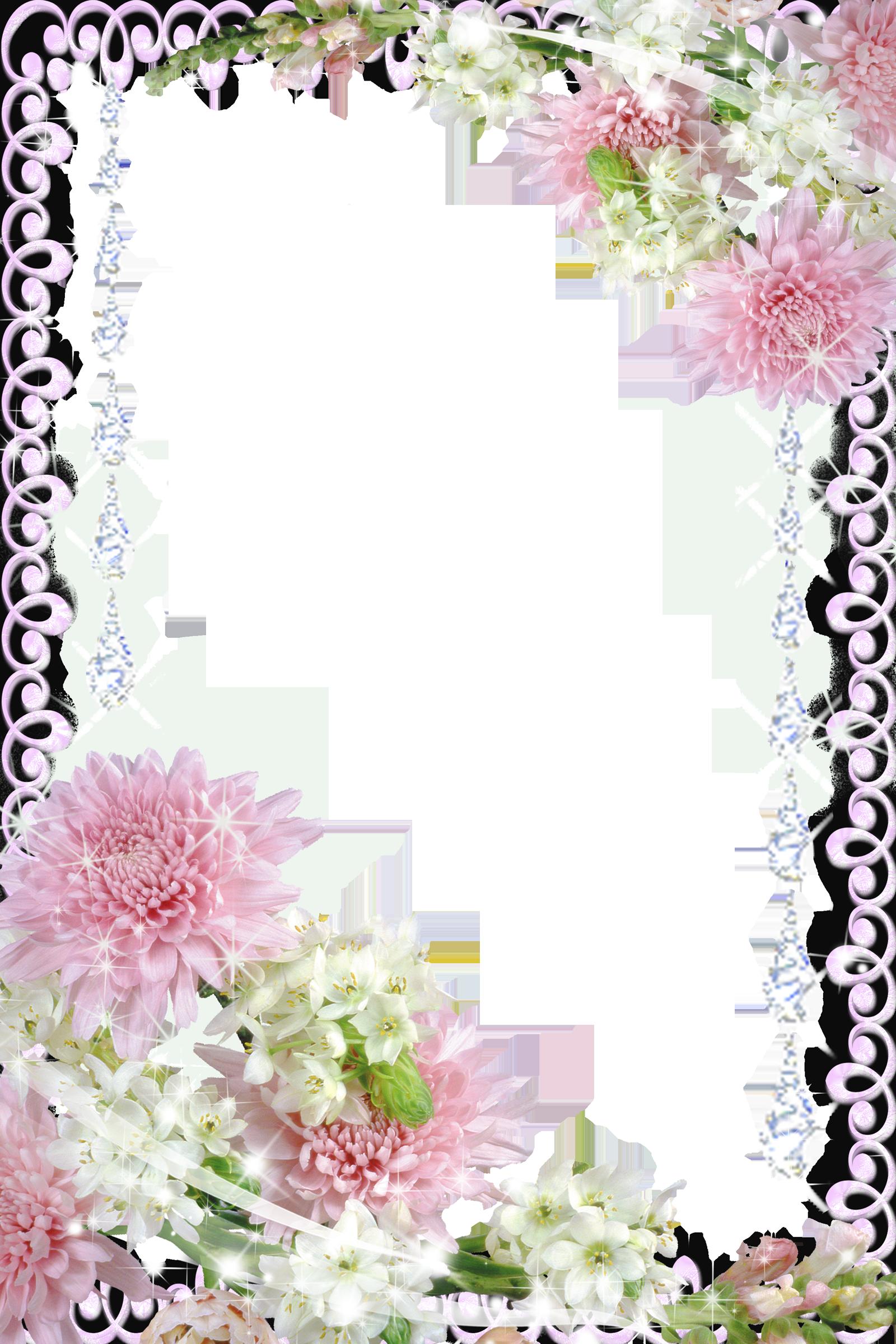 Real Flowers Transparent PNG Photo Frame Flower frame