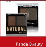 Venta al por mayor del maquillaje Sugarbox Ceja Ceja Crema en Polvo Pincel Kit 4 colores Conjuntos Elija con el cepillo Envío Gratis