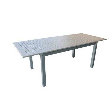 La table de jardin Iris possède une structure en aluminium. Pratique ...