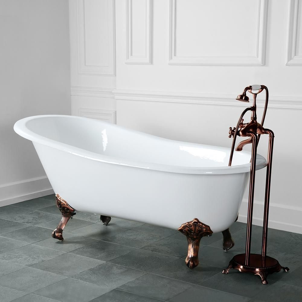 54 Henderson Cast Iron Slipper Clawfoot Tub With Images