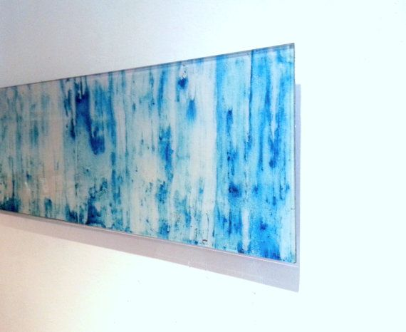 Wall Art Floating Acrylic Glass Light Blue Turquoise White Contemporary Modern Art Acrylic Wall Art Contemporary Modern Art Art