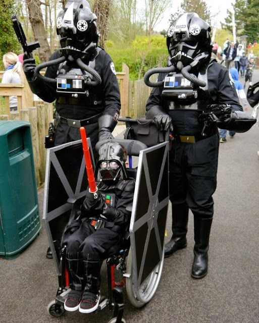 Now THIS is How You Do Star Wars Cosplay! Kewlest Wheelchair in The Dark Side