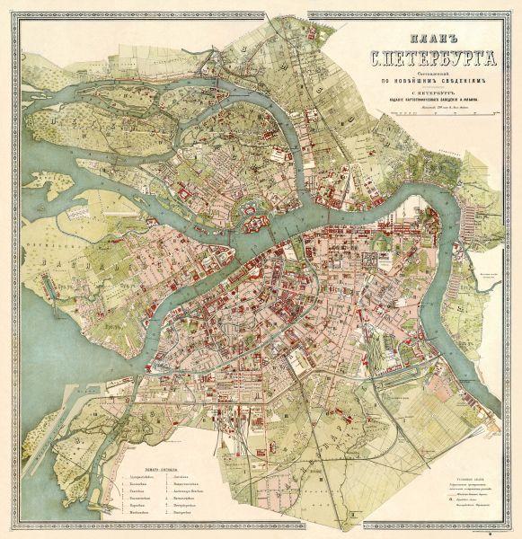 saint petersburg russia map