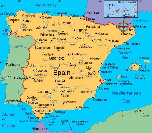 Spain Portugal Tour Similiar Map Of Cutright Family --