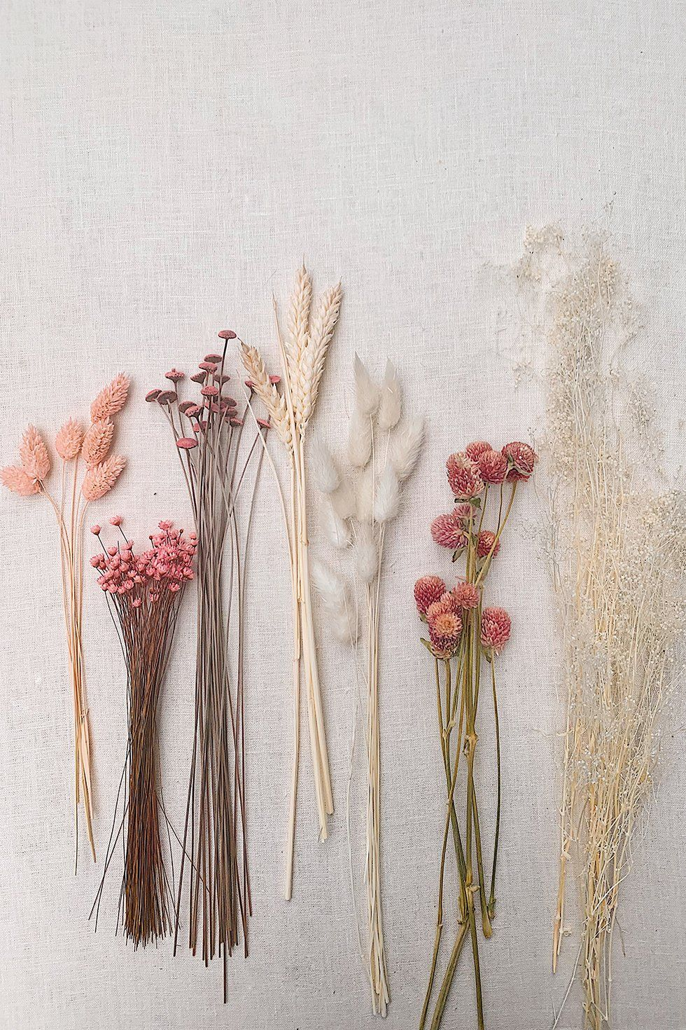 The most difficult part about arranging your own dried flowers is actually sourcing the flowers. I recommend first trying your local