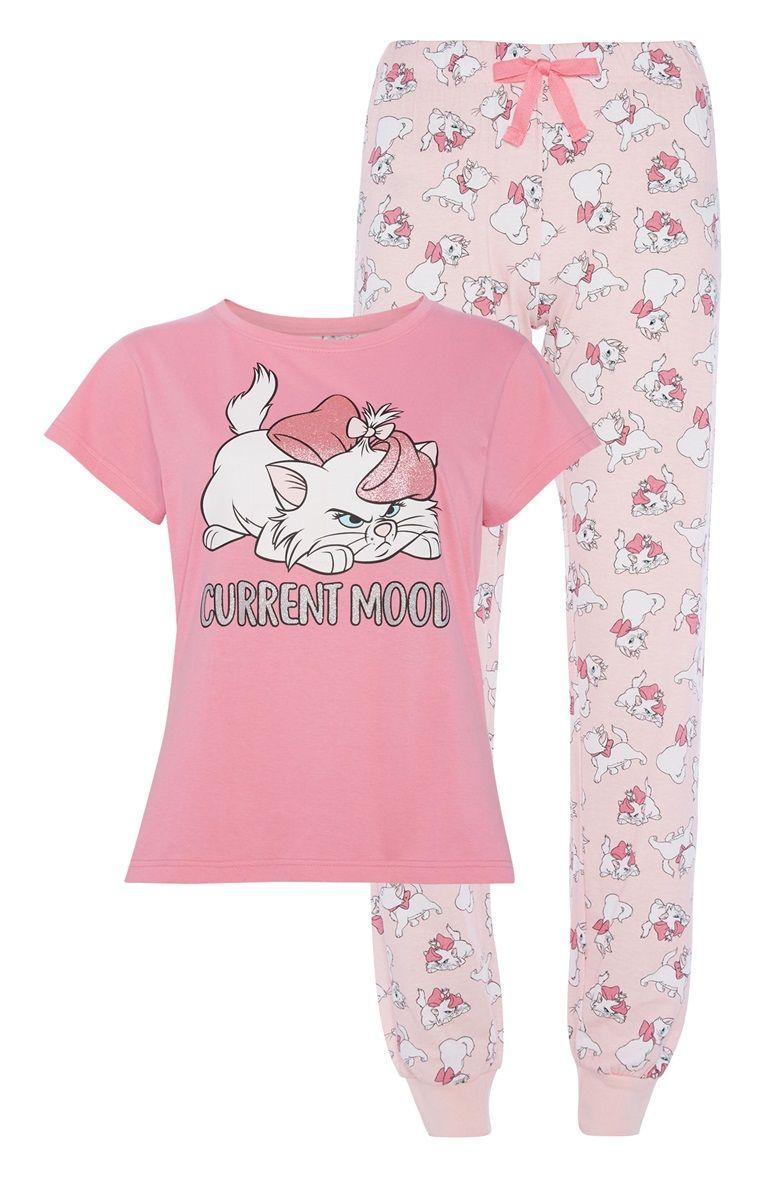 Primark Disney Bambi Thumper T-shirt Bottoms Pyjama Pajama Pj Set for Ladies