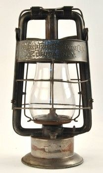 Dietz King Lantern Marked On Base Fire Dept And Marked On Top Band