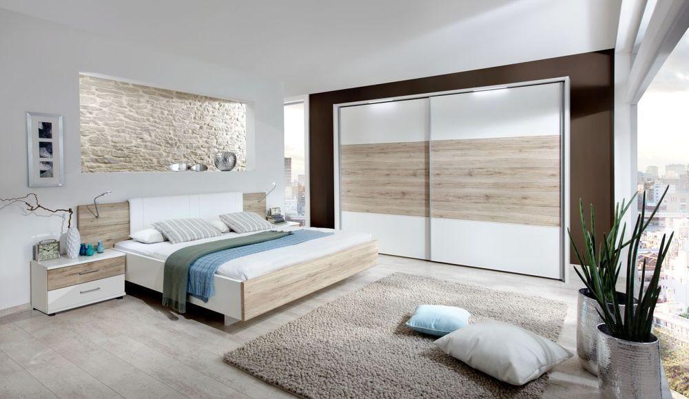 Luxury Kleiderschrank Schwebet renschrank Alpinweiss Eiche cm Modell Arizona