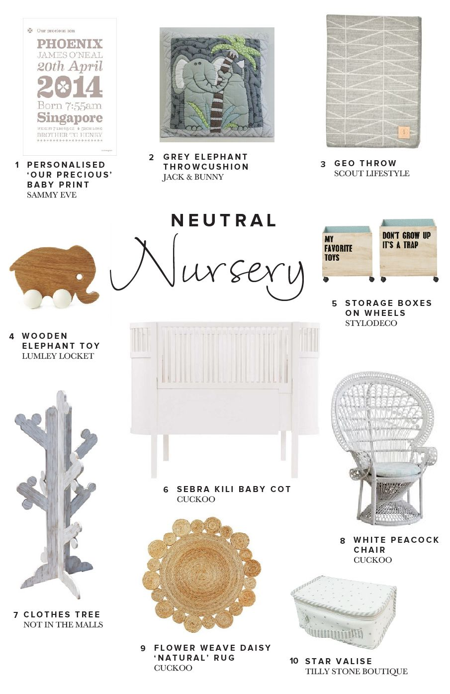 Dream spaces | Neutral Nursery