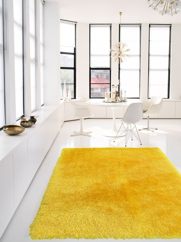 benuta Shaggy Teppich Jersey Sunshine Wohnzimmer ⌂ Living room - wohnzimmer creme rot