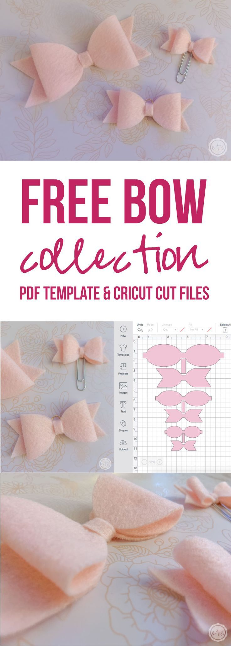Get Your FREE Felt Bow Cut Files