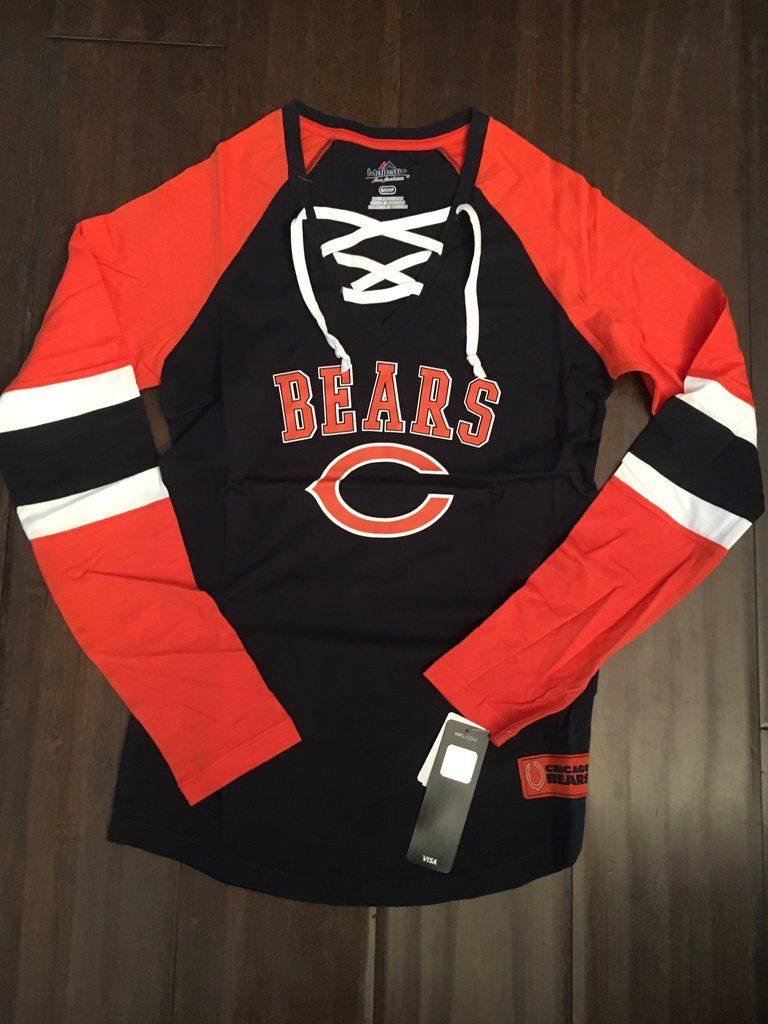 997dc0824 NFL Chicago Bears Women's Winning St. Lace Up Long Sleeve Shirt  www.mancavesonline.com