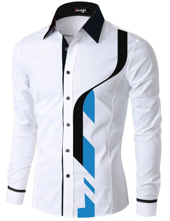 Jinyuan Camisas de Hombre Primavera oto/ño caracter/ísticas Camisas Hombres Casual Camisa de Oro de Manga Larga Casual Slim Fit