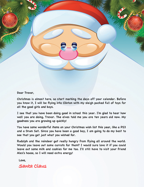 13+example letter from santa | proposal bussines.