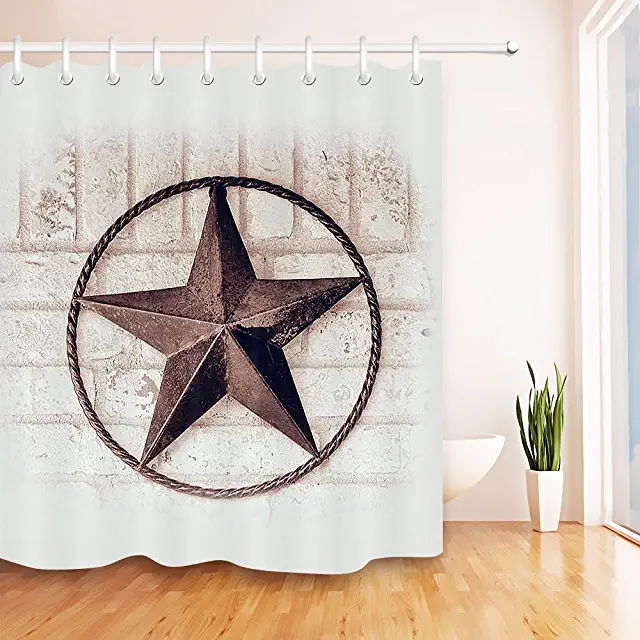 Amazon Com Rustic Looking Shower Curtain In 2020 Shower Curtain